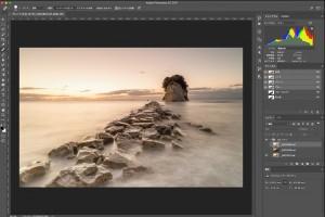 PhotoshopのRAW現像で風景写真を露出ブレンドする方法