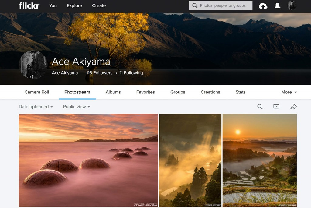 FlickrでExploreに選ばれた写真