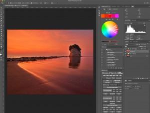 Photoshopの遠近法ワープで構図を変更する方法