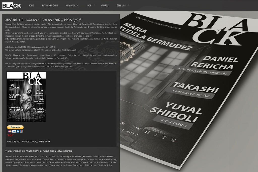 BLACK Magazinのオンラインマガジン購入サイト