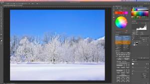 風景写真の空の色を簡単にレタッチする方法